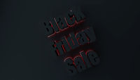 Black friday sale concept with red light