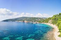 The beach Stafylos of Skopelos from drone, Greece