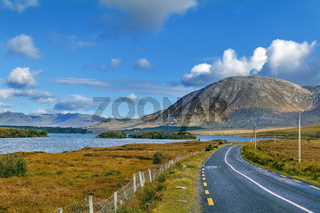 Landscape with Inagh lake, Ireland