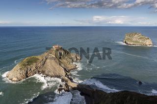 Die Insel San Juan de Gaztelugatxe im Baskenland, Europa