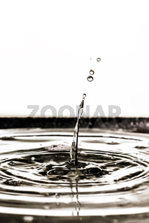 black water drop background
