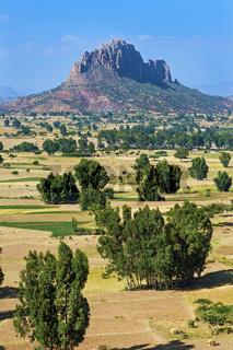 Gheralta Sandstein-Berge über der Hawzien Ebene, Tigray, Äthiopien