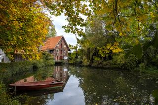 Herbst an der Dinkel an der Duestermuehle