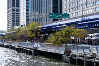 Pier 15 at the South Street Seaport at daytime in Autumn