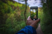 Beim Wandern fotografieren mit dem Handy