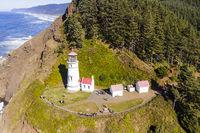 Heceta Head Lighthouse On The Oregon Coastline