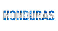honduras flag text font