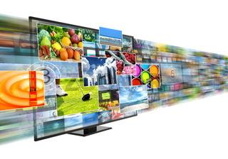 Internet broadband and streaming multimedia entertainment