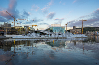 Oslo Opera House at Oslofjord in Oslo city, Norway