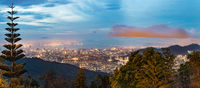 Beautiful view of George Town from Penang Hill. Panorama