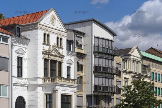 Hannover - Innenstadt, Häuserzeile mit historischen Stadtvillen, Deutschland