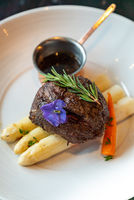 Grilled Beef Tenderloin White Asparagus
