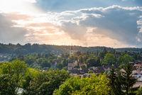 Stadtbild von Schaffhausen mit dem Turm der Kirche Santa Maria
