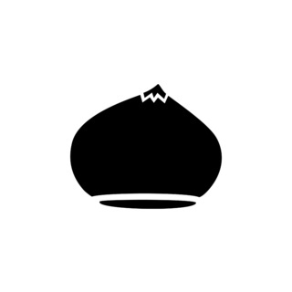 Chesnut. Isolated icon. Fall fruits and food vector illustration