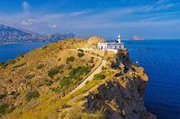 Altea Leuchtturm Faro del Albir, Costa Blanca in Spanien -  Altea lighthouse Faro del Albir, Costa Blanca in Spain