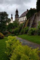NACHOD, CZECH REPUBLIC - MAY 29, 2009: The gardens at Nachod Castle in north-eastern Czech Republic