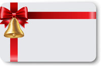 Blank Gift Tag Red Ribbon Bow Ribbon