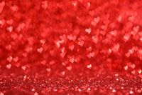Hearts bokeh Valentine's day background