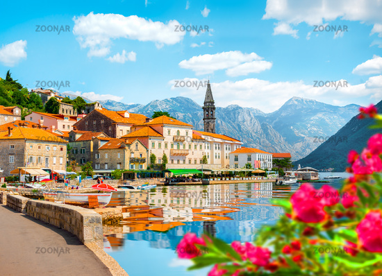 Perast at Bay in Kotor