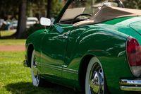 classic green cabriolet car back