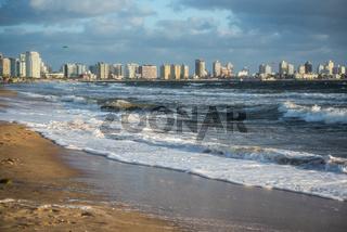 Punta del Este beach in Uruguay, Atlantic Coast