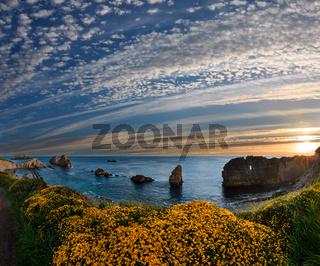 Blossoming sunset Arnia Beach