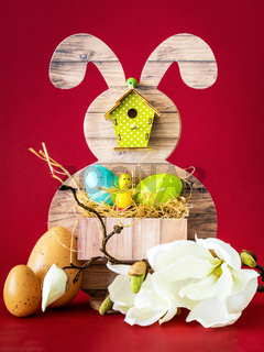 Easter bunny greeting decoration arrangement