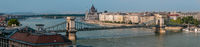 Panorama of the Chain Bridge, Budapest, Hungary