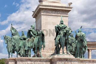 Budapest, Hungary. Heroes' Square, Hosok Tere or Millennium Monument