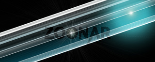 Futuristic stripe panorama background design with lights