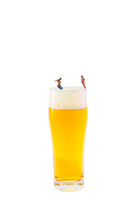 Miniature photography, miniature figures with beer glass