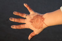 Henna,  Mehndi, a form of body art from Ancient India.