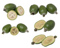 Set tropical fruit feijoa whole and cut in half.