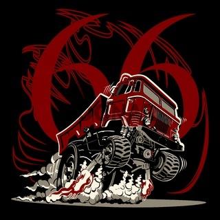 Cartoon muscle semi truck