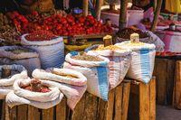 fresh pulses at marketplace