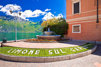 Limone sul Garda fountain and square by the lake view