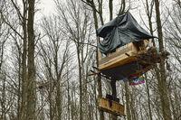 Protest für den Kohleausstieg... Hambacher Forst *Nordrhein-Westfalen, Baumhauscamp der Aktivisten