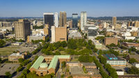 Bright Daylight Aerial View Downtown Urban Metro Area of Birmingham Alabama
