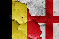 flags of Belgium and England