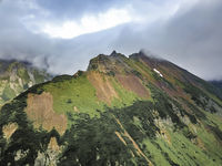 landscape with green plains on Kamchatka peninsula, Russia