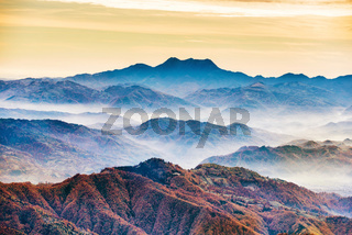 Landscape with colorful mountain ranges