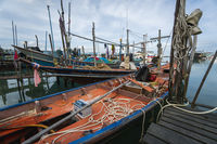 THAILAND, SAMUI - December 20, 2019: Docks of local fisherman's on the Samui island.