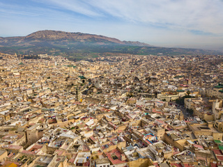 Aerial view of Medina in Fes, Morocco