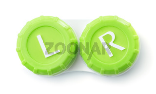 Top view of contact lens case