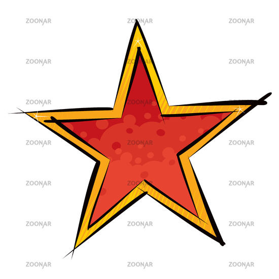 Red and orange star illustration