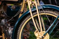 vintage classic old motorcycle close up