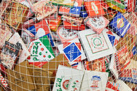 KÖLN, OKTOBER 2019: Viele Pizzakartons auf ANUGA Messe
