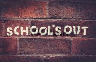 Schools Out Graffiti