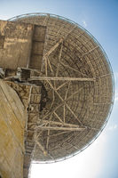 Abandoned center of space communication,an abandoned old telescope