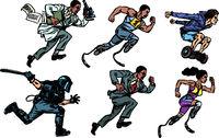 set collection scholar athlete runner disabled police youth gyrometer businessman